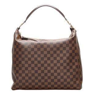 Louis Vuitton Brown Damier Ebene canvas Portobello GM bag