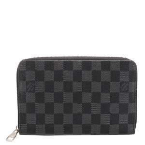 Louis Vuitton Black/Grey Damier Graphite Canvas Vertical Zippy Wallet