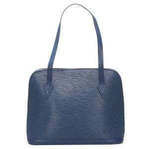 Louis Vuitton Blue Epi Leather Lussac Bag
