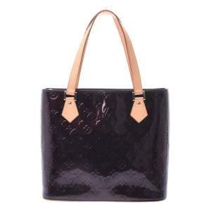 Louis Vuitton Burgundy Monogram Vernis Houston Tote Bag