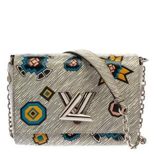 Louis Vuitton White Epi Leather Azteque Twist MM Bag