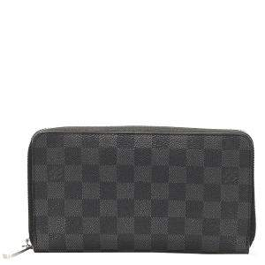 Louis Vuitton Black/Grey Damier Graphite Canvas Zippy Wallet