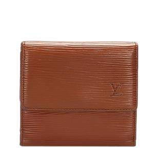 Louis Vuitton Brown Epi Leather Porte Monnaie Billets Tresor Wallet