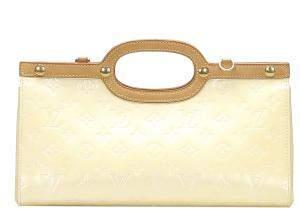 Louis Vuitton Cream Monogram Vernis Roxbury Drive Bag