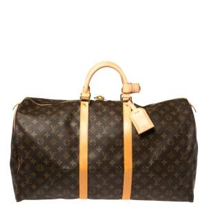 Louis Vuitton Monogram Canvas Vintage Keepall 55 Bag