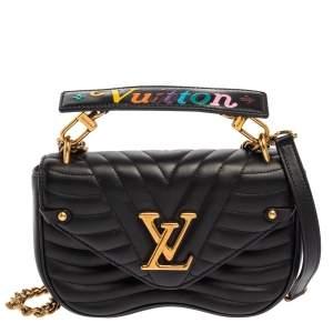 Louis Vuitton Black Leather New Wave Chain PM Bag