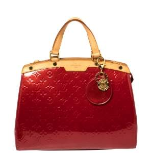 Louis Vuitton Pomme D'amour Monogram Vernis Brea GM Bag