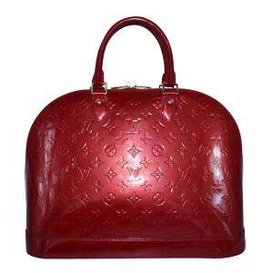 Louis Vuitton Red Monogram Vernis Alma PM bag
