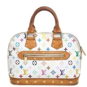 Louis Vuitton White Multicolor Monogram Canvas Alma PM Bag