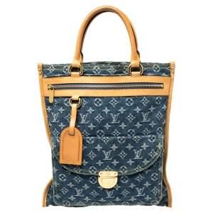 Louis Vuitton Blue Monogram Denim Sac Plat Bag