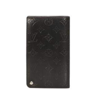 Louis Vuitton Black Monogram Mat Canvas Wallet