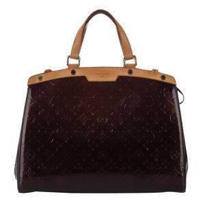 Louis Vuitton Burgundy Monogram Vernis Brea GM Bag