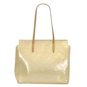 Louis Vuitton Cream Monogram Vernis Catalina E/W Tote Bag