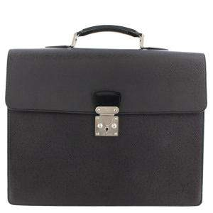 Louis Vuitton Black Taiga Leather Moskova Briefcase Bag