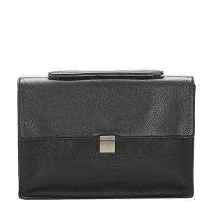 Louis Vuitton Black Taiga Leather Porte-Document Angara Briefcase