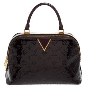 Louis Vuitton Amarante Monogram Vernis Melrose Bag