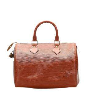 Louis Vuitton Brown Epi Leather Speedy 25 Bag