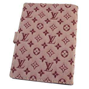 Louis Vuitton Pink Mini Lin Canvas Ring Agenda