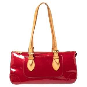 Louis Vuitton Pomme D'amour Monogram Vernis Rosewood Avenue Bag