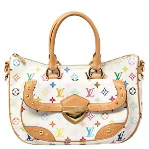 Louis Vuitton White Monogram Multicolore Canvas Rita Bag