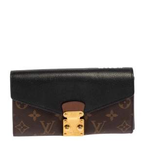 Louis Vuitton Noir Monogram Canvas and Leather Metis Wallet