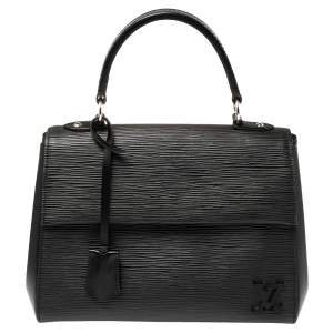Louis Vuitton Black Epi Leather Cluny BB Shoulder Bag