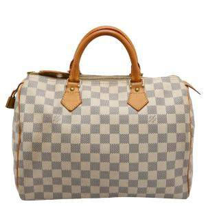 Louis Vuitton Damier Azur Canvas Speedy 30 Bag