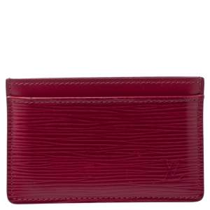 Louis Vuitton Pondichery Pink Epi Leather Card Holder