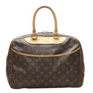 Louis Vuitton Brown Monogram Canvas Trouville Bag