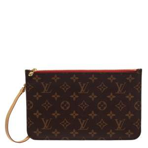 Louis Vuitton Monogram Canvas Neverfull Pochette NM Clutch
