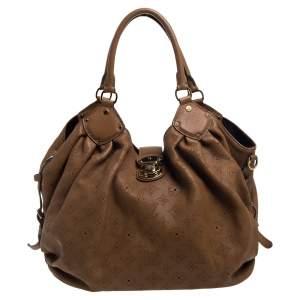 Louis Vuitton Tan Monogram Mahina Leather L Bag