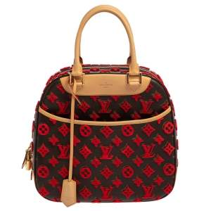 Louis Vuitton Rouge Monogram Canvas Tuffetage Deauville Cube Bag