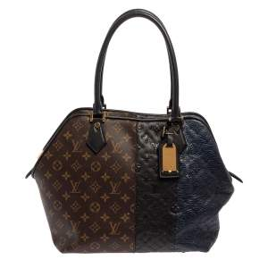 Louis Vuitton Marine Monogram Canvas and Leather Limited Edition Blocks Zipped Bag