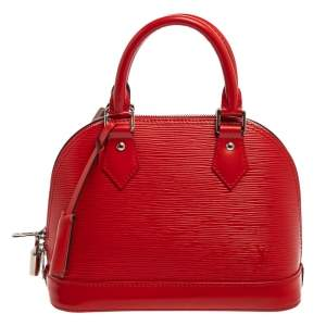 Louis Vuitton Coquelicot Epi Leather Alma BB Bag