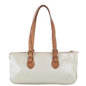 Louis Vuitton White Monogram Vernis Rosewood Avenue Bag