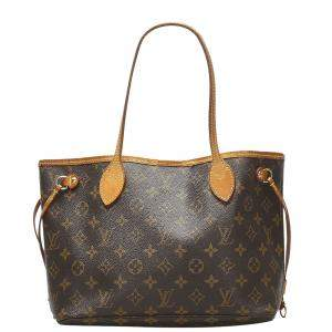 Louis Vuitton Brown Monogram Canvas Neverfull PM Bag