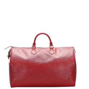 Louis Vuitton Red Epi Leather Speedy 40 Bag
