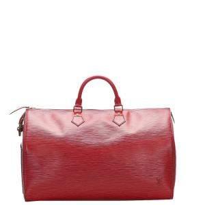 Louis Vuitton Red Epi Leather Speedy 40 Bag
