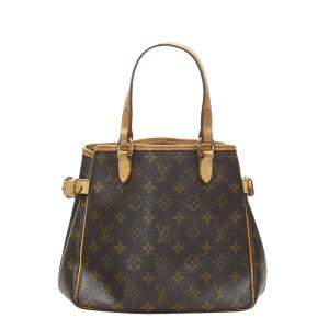Louis Vuitton Brown Monogram Canvas Batignolles Vertical Bag