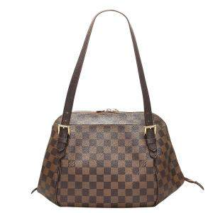 Louis Vuitton  Damier Ebene Canvas Belem MM Bag
