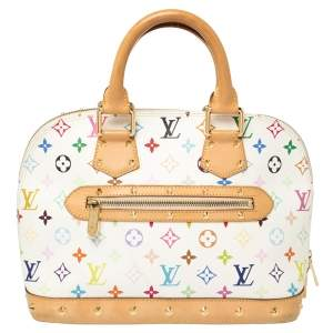 Louis Vuitton White Multicolore Monogram Canvas Alma PM Bag