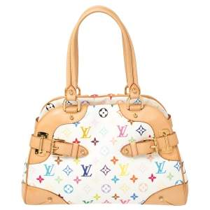 Louis Vuitton White Multicolore Monogram Canvas Claudia Bag
