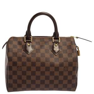 Louis Vuitton Damier Ebene Canvas Speedy NM 25 Bag