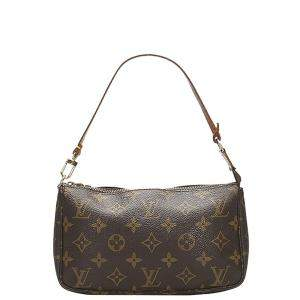Louis Vuitton Brown Monogram Canvas Pochette Accessoires Bag