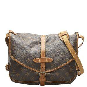 Louis Vuitton Brown Monogram Canvas Saumur 30 Bag