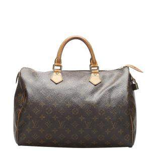 Louis Vuitton Brown Monogram Canvas Speedy 35 Bag