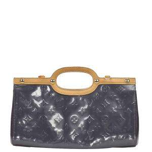 Louis  Vuitton Grey Monogram Vernis Roxbury Drive Bag