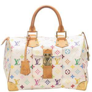Louis Vuitton White/Multicolor Monogram Multicolore Canvas Speedy 30 Bag