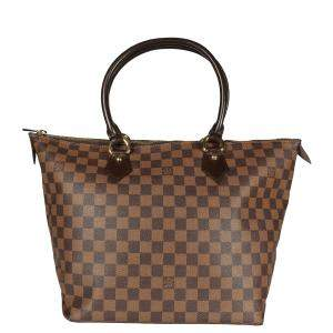 Louis Vuitton Damier Ebene Canvas Saleya MM Bag