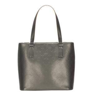 Louis Vuitton Black Monogram Mat Leather Stockton Bag